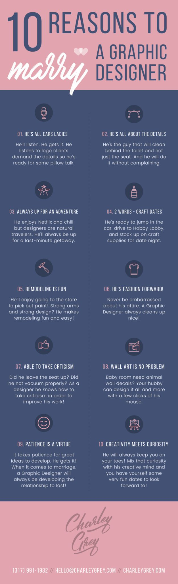 10 reasons to marry a graphic designer infographic
