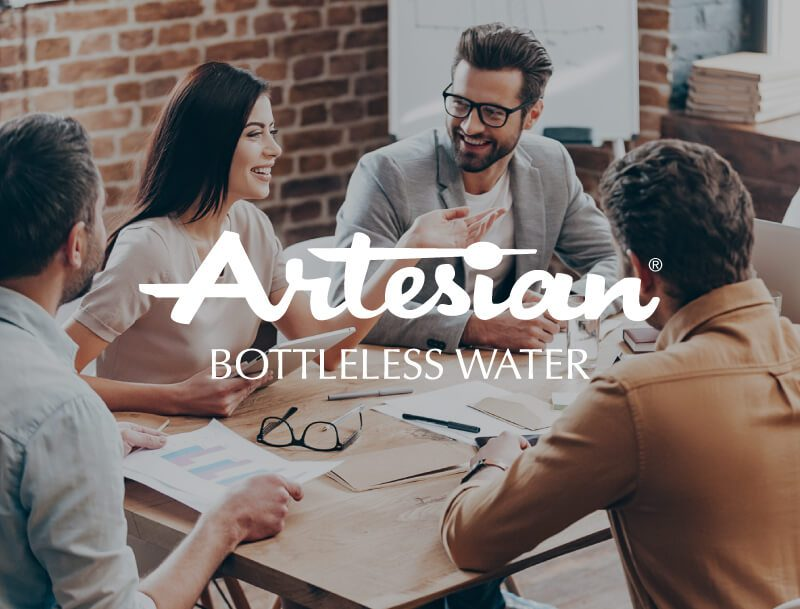 charley grey web design client artesian bottleless water