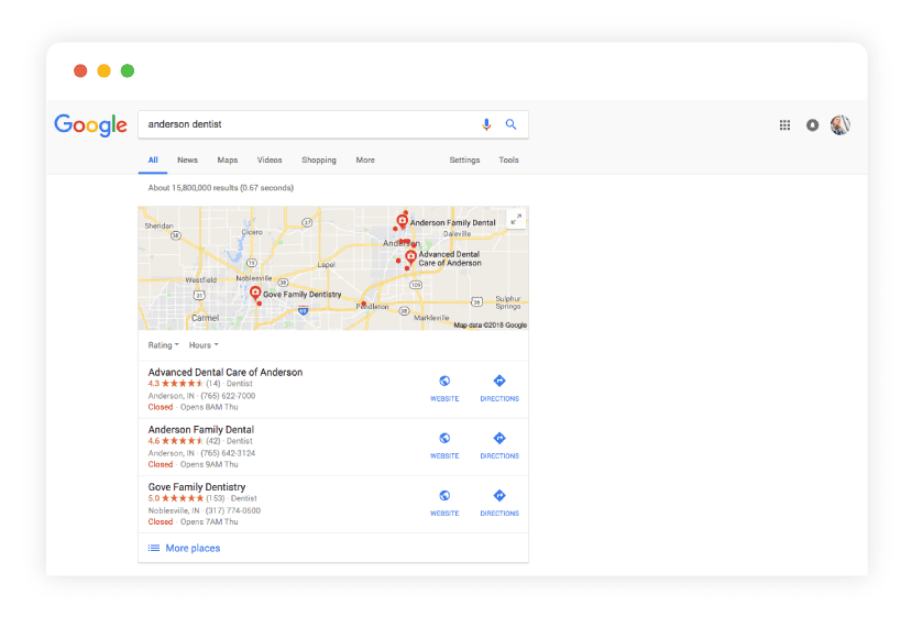 good web design results in good website ranking on google mockup