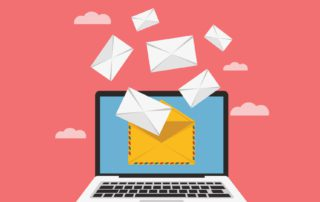 computer with envelopes coming in helping to grow your email list