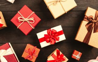 assortment of wrapped presents